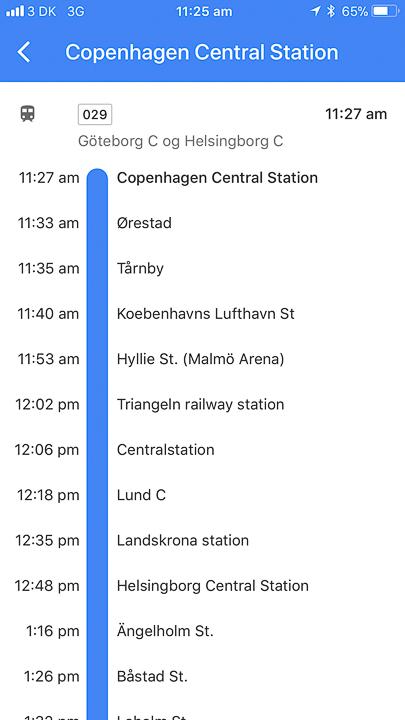 Copenhagen to Malmo Train